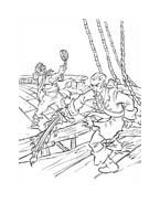 Pirati dei caraibi da colorare 15