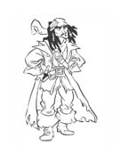 Pirati dei caraibi da colorare 32