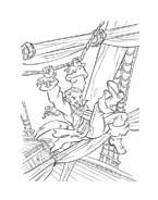 Pirati dei caraibi da colorare 34