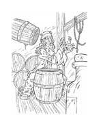 Pirati dei caraibi da colorare 35