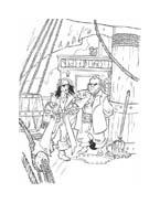 Pirati dei caraibi da colorare 37