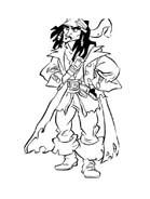 Pirati dei caraibi da colorare 79