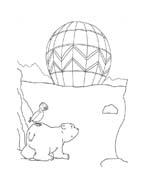 Piuma il piccolo orsetto polare da colorare 13