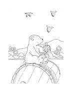 Piuma il piccolo orsetto polare da colorare 17
