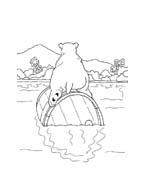 Piuma il piccolo orsetto polare da colorare 41