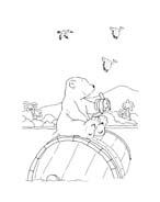 Piuma il piccolo orsetto polare da colorare 69