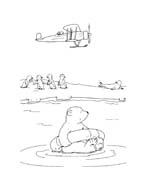 Piuma il piccolo orsetto polare da colorare 83