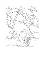 Piuma il piccolo orsetto polare da colorare 98