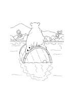 Piuma il piccolo orsetto polare da colorare 103