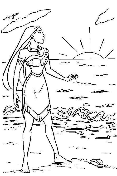 Pocahontas da colorare