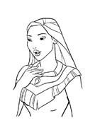 Pocahontas da colorare 2