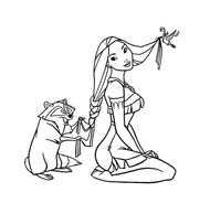Pocahontas da colorare 9