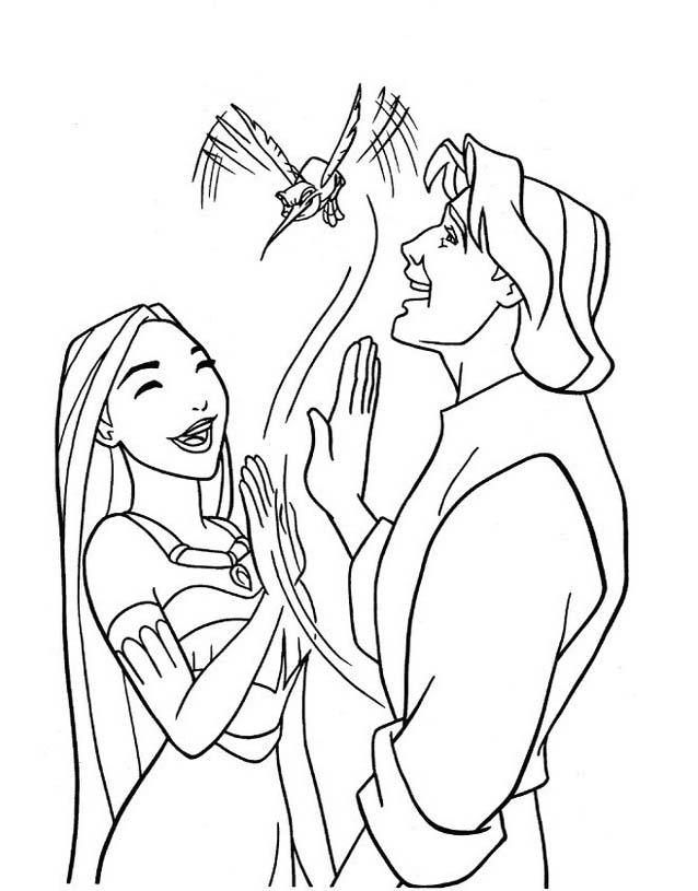 Pocahontas da colorare 10