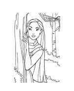 Pocahontas da colorare 11