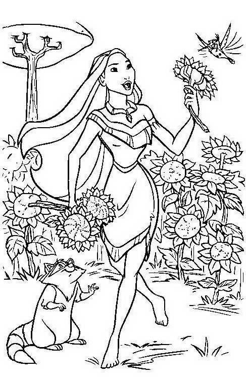 Pocahontas da colorare 20