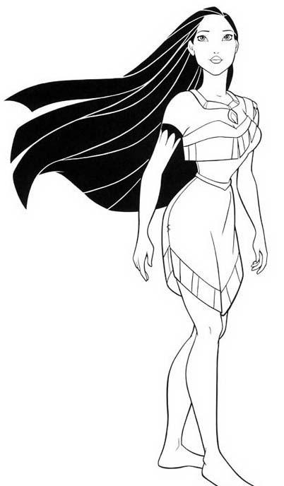 Pocahontas da colorare 23
