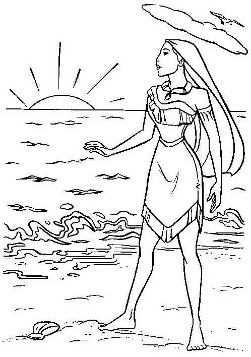 Pocahontas da colorare 33