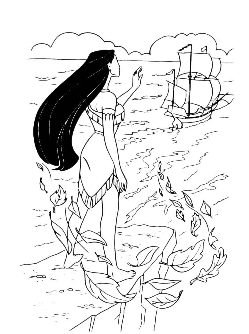Pocahontas da colorare 41