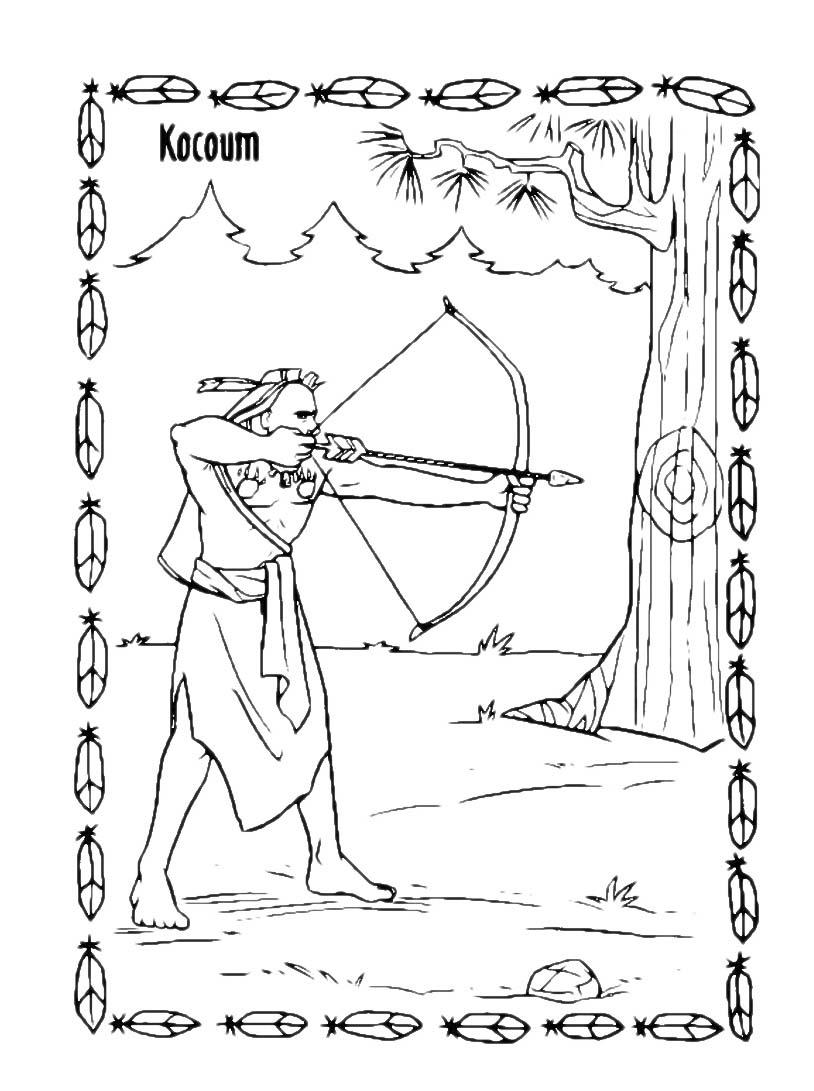 Pocahontas da colorare 48