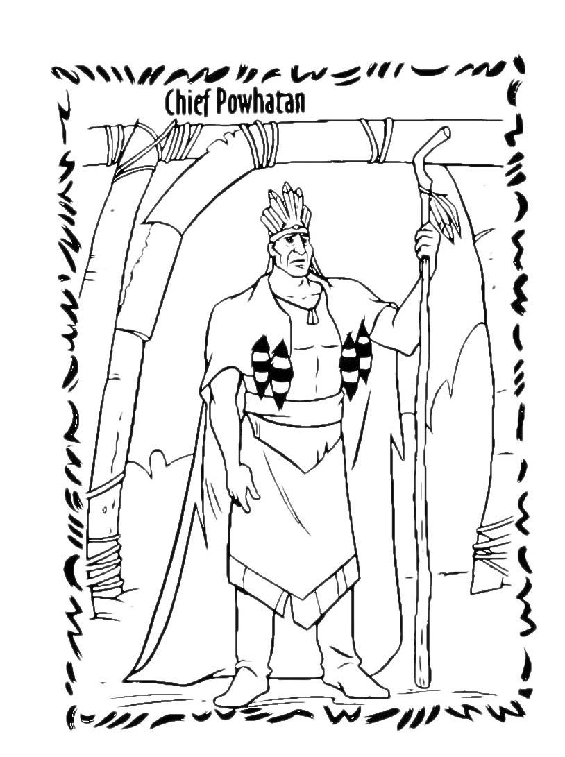 Pocahontas da colorare 50