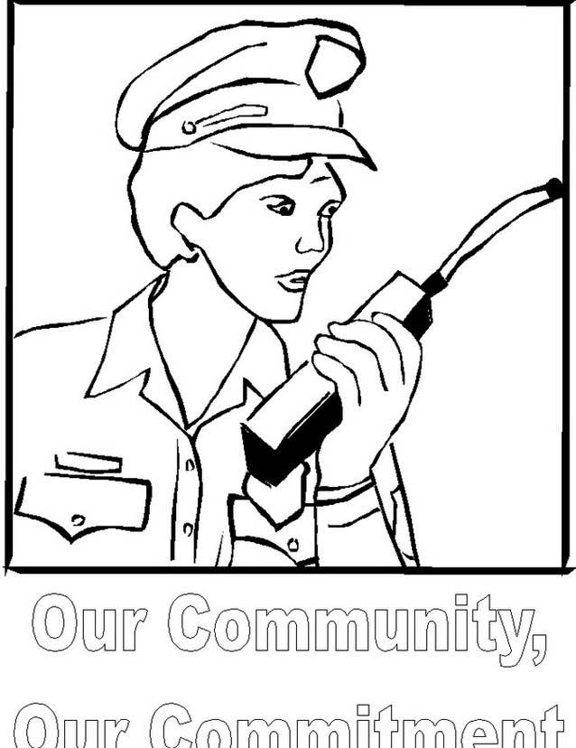 Polizia da colorare 9