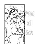 Polizia da colorare 11