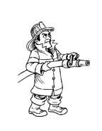 Pompiere da colorare 8