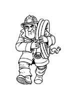 Pompiere da colorare 12