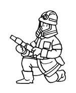 Pompiere da colorare 14