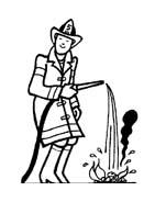 Pompiere da colorare 15