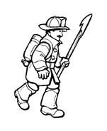 Pompiere da colorare 22