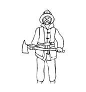 Pompiere da colorare 24