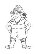 Pompiere da colorare 25