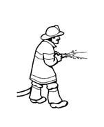 Pompiere da colorare 26