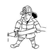 Pompiere da colorare 28