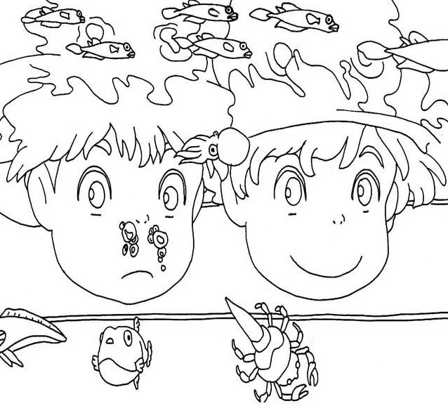 ponyo printable coloring pages - mandala coloring pages tattoo design bild