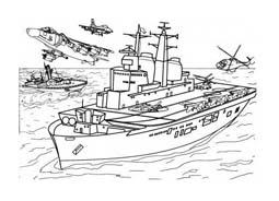 Nave e barca da colorare 126