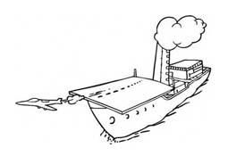 Nave e barca da colorare 127