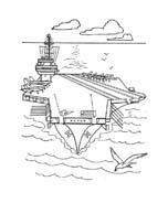Nave e barca da colorare 129