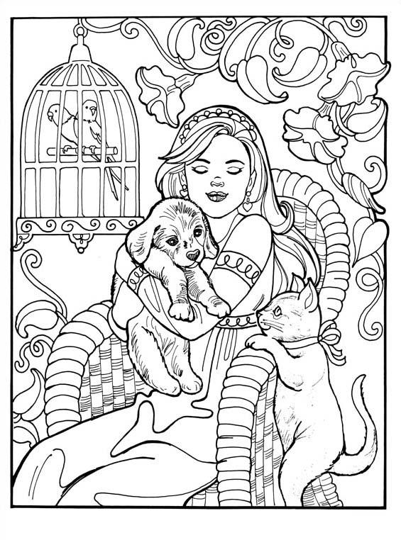 Principessa leonora da colorare 5