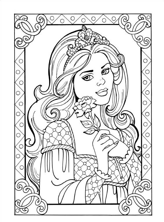 Principessa leonora da colorare 6