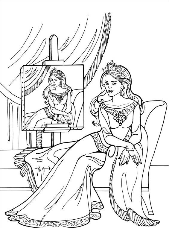 Principessa leonora da colorare 7