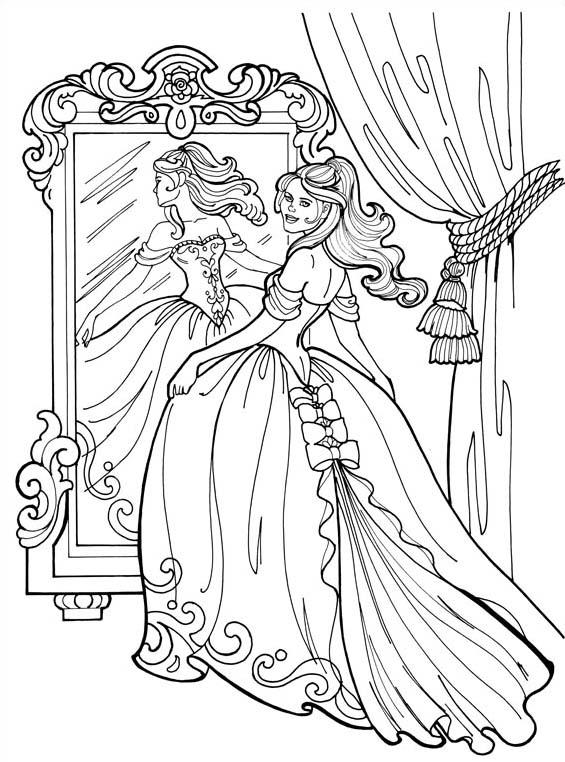 Principessa leonora da colorare 8
