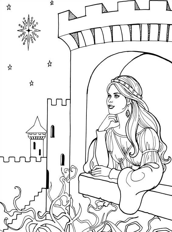 Principessa leonora da colorare 15
