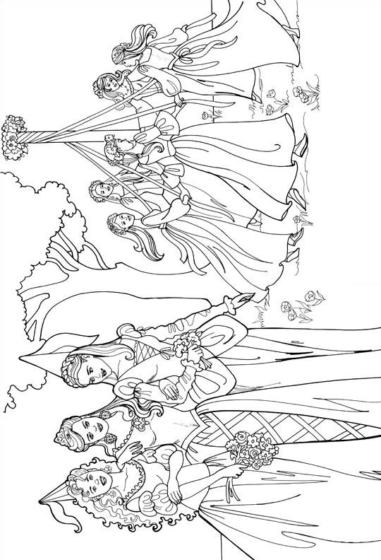 Principessa leonora da colorare 16