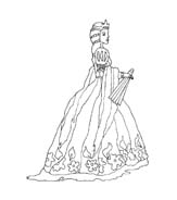 Principessa da colorare 7