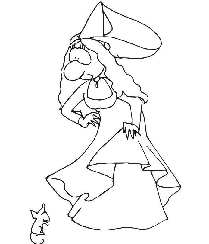 Principessa da colorare 14