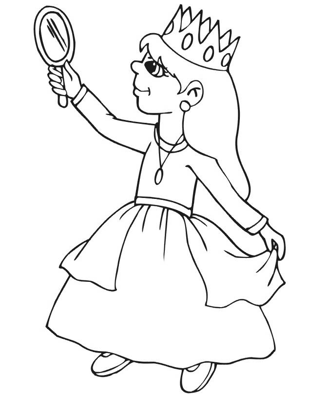 Principessa da colorare 37