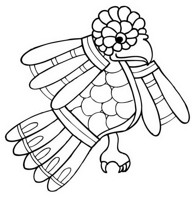 Uccello da colorare 210