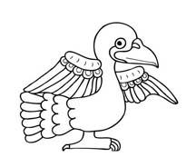 Uccello da colorare 213